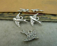 Wholesale 100pieces mmx16mm diy vintage style ancient bronze bird charm with