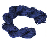 all nylon Cord & Wire Deep Blue 1mm Satin Nylon Cord Braided Macrame Beading Chinese Knotting Thread 27M Roll Fit Shamballa Bracelet Craft Jewelry Making NI22*5