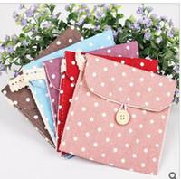 Fabric Beverage  1060 south Korean fresh wave of cotton and linen sanitary napkin bag to receive bag health cotton bag