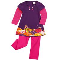 Wholesale H3589 Purple Nova kids wear Children Winter Clothing y y baby girls tracksuits t shirt amp legging pieces set pieces per