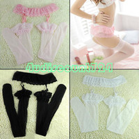 Wholesale EQ6128 Women s Sexy Ultrathin Lace Top Thigh High Silk Stockings Socks Garter Belt