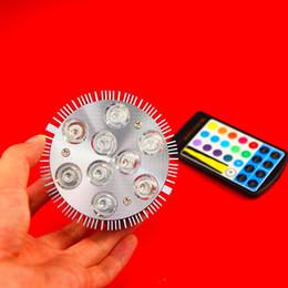 Wholesale-PAR30 E27 18W 9x2W RGB LED Light Bulb Light Down Light RGB CREE LED Chips free shipping