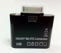 Wholesale 5 in USB OTG Camera Connection Kit Adapter for SAMSUNG GALAXY Tab P7500 P5100 P3100 Card Reader