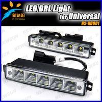 White 12V 5 LED Super Bright EPISTAR LED Daytime Running Light DRL Kit Fog Day Driving Daylight 100% waterproof E4 DRL LED car fog lights