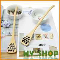 Wood ECO Friendly  The Spoon Lots Wood Creative Carving Stirring Honey Spoons Free Shiping Flatware Accessory