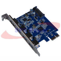 Wholesale 5pcs by DHL UPS SuperSpeed USB ESATA III PCI E PCI Express Card Port with pin SATA Power Connector Adapter