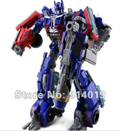 Wholesale Transforming Robots Super Prime Leader Autobots Kid s Chidren Car Robot Christmas Gift Toys TXA1001