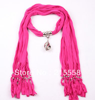 Wholesale New Fashion Design Pendant Jewelry Scarf Necklace Charm Scarves For Women ZS1