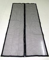 Wholesale Magic Mesh Hands free Screen Door Curtain Black and Beige Anti Mosquito Bug Great for Pets