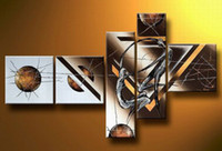 One Panel art deco figures - Orginal Handcraft Hot selling Oil Painting Abstract Wall Deco Art on canvas Seaside Sunset no frame