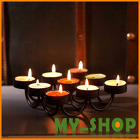 Wholesale Pastoral nine European style wrought iron candle holder romantic wedding products floor candle holder