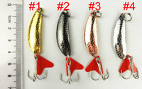 Wholesale Fishing Spoon Lure CM G hooks spinner tackle Hard Bait Fishing Lures Trolling one hooks