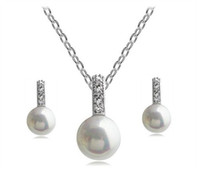 Wholesale HOT SALE White Pearl Jewelry Set Fashion Pearl Jewelry