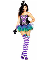 Wholesale Sexy Women s Fairy Costume Adult Mad Hatter Costume O38335