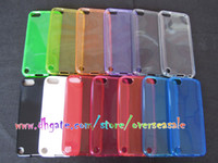 Wholesale Butterfly flower finger print Clear Transparent Crystal TPU Gel silicone back cover case cases for Ipod touch itouch th G