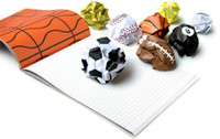 Notepads basketball notepad - 120pcs Fun Creative Playmore Notebook Work Less Playmore Sports Ball Notepad Football Basketball Volleyball Letter Pad