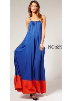 2013 Hotsale Blue Casual Dress/Maxi Dress/ Crystal Cotton Dress ...