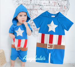Wholesale 2013 Summer baby clothes new style all cotton Short sleeve boys hoodies rompers infant jumpsuits blue size XR579