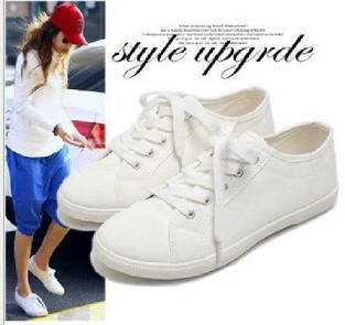 Blue 'Riley' White Netted Lace-up Sneakers for Women
