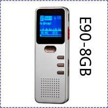 Free shipping New Portable Mini DVR E90 Digital Voice Recorder 8 GB Audio MP3 Player Telephone recording LCD Screen Displayer