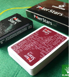 Wholesale POKERSTARS matte plastic poker Texas poker
