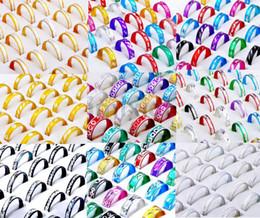 Wholesale 1000pcs style Rings Jewelry Mix Fashion Aluminum Rings Bulks Multicolor Band Rings Fashion Finger Rings Jewelry RA01 RA11
