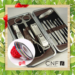 Wholesale Vogue Nail Care Personal Manicure amp Pedicure Set Travel amp Grooming Kit free Nail Art Sticker