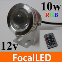 Wholesale 10W lm led under water rgb led pond lights V led underwater fountain light flash waterproof IP68