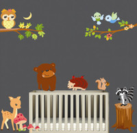 Removable animal movies list - Removable Wall Art Stickers The Forest Animals Wall Decal Kids Room Wall Stickers Nursery Wall Decor New Listing