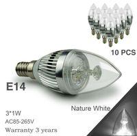 led candle light bulb - 3W LED Candle Light Bulb CREE LED E12 E14 E27 W LED Lights LED Spotlight LED Light LED Spot Light W USA seller