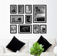Wholesale 10Pcs Wood Picture Photos Creative Combination Wall Mounted Set Photo Frame DH