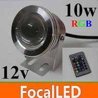 Wholesale 6pcs W RGB Underwater Light LED Floodlight V Round Aquarium Fountain Lighting with Reflection Cup
