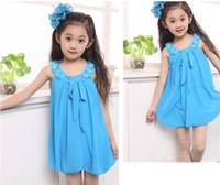 Wholesale Special children s clothing chiffon dress girls summer new Korean children vest skirt princess skirt