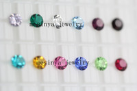 Wholesale best bling sparkle mm round months birthstones for glass memory living floating locket pendant Xmas gift no locket included