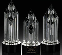 crystal glass award - Unique Trophy Design Optical Crystal Sport Trophy Glass Award Plaque Gifts Crystal JB022