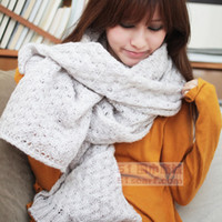 Wholesale 10pcs new arrival Fashion Korean version of the solid hybrid lines long warm scarves