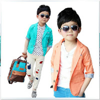 Cheap Children's clothing baby boy the new spring summer 2013 han edition half sleeve suit men's suits, children's recreational coat B09