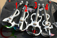 Wholesale New arrival Electric Violin Outfit White Electric violin WITH CASE styles please select a descr purchase for for2 for3 for4