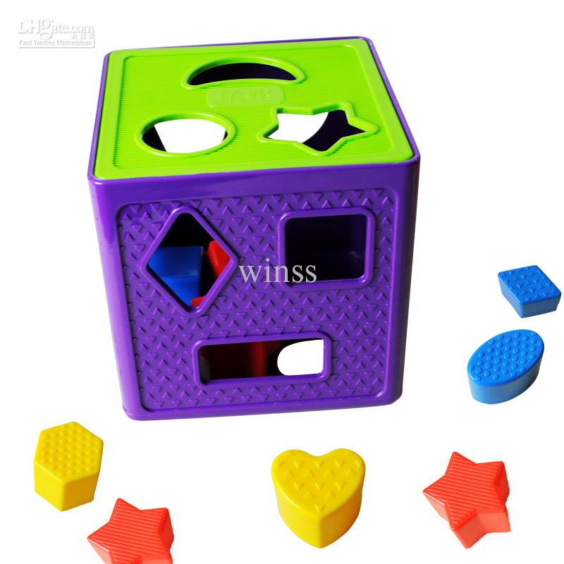 Baby Block Toy Box : Digital geometry shape box baby blocks color