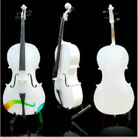 Wholesale Custom Shop violoncello white Elegant Musical Instruments white cello with bag
