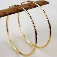 Wholesale Big size golden hoop loop women cheap EARRING Earrings fashion Jewelry Promoted charm earrings