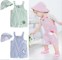 Lovely straps shorts hat baby sets newborn clothing colour size sets