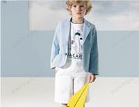 Wholesale Paragraph autumn boys coat Take in cloth stripe children s garments children s garments children s garments baby business suit FS41