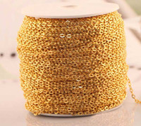 Wholesale M x3x2mm Golden Metal Chains Making Necklace Pendant Bracelets Anklets Waist chain DIY Craft Jewelry Findings