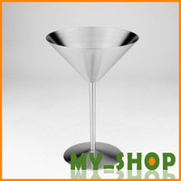 Wholesale Stainless steel wine glasses fashion creative champagne glasses goblets martini glass Martin cups ice cream cups
