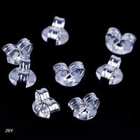 Wholesale Sterling Silver Ear Studs Back Post Butterfly Backs Earrings Stopper Charms Fashion Jewelry Findings Hypo Allergenic ZBY