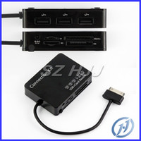 For Samsung   OTG USB 2.0 Hub Card Reader Connection Kit M1 M2 SD Card Reader For GALAXY Tab P7500 P7510 P7300