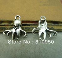 Fashion Charms Trendy 16*18mm Metal Alloy Antique Silver Baby Octopus Pendant Jewelry Vintage Charms Jewelry Findings Fit Diy Jewelry Accessories