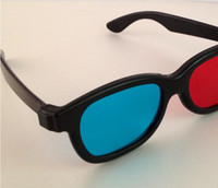 Wholesale 3D GLASSES Red magenta Blue Anaglyph plastic frame stereo Flat Glasses for D movie D game D TV