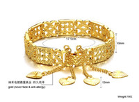 Women's Gold Beaded, Strands rare noble yellow gold women;s braclet free shipping